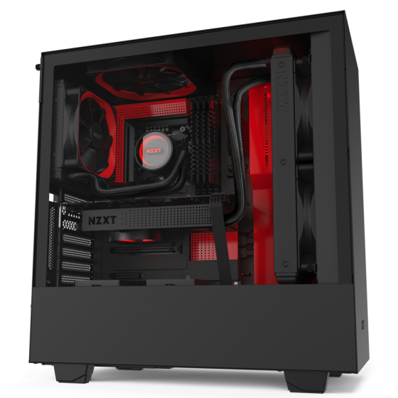 GABINETE NZXT H510i COMPACT BLACK_RED
