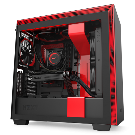 GABINETE NZXT H710i BLACK-RED