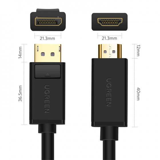 UGREEN Cable DisplayPort a HDMI, 4K Cable DP a HDMI (2M)